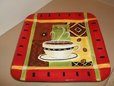 "Square Dinner Plate, Platter 11 1/8"" ""Mocha Java"" J. Brinley Cert. Internatl"