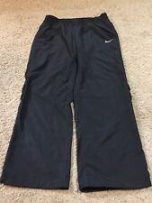 Women's Nike Black DRI-FIT Athletic Wind Warm Up Pants Size Large