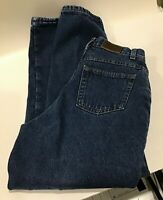 LL BEAN Women's Double L Relaxed Fit Flannel Lined Jeans Size 8 Reg