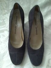 Charles Jourdan Paris Solid Gray Leather Suede Pumps High Heels Shoes 7 M