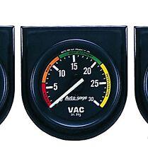 Auto Meter Autogage Vacuum Vac Gauge with Panel 2-1/16 in. (52mm) 30 in. Hg.