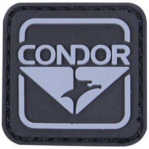 Condor Emblem PVC Patch - Black - Hook and Loop