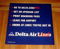 2003 DELTA AIRLINES AIR LINES NYC SUBWAY POSTER