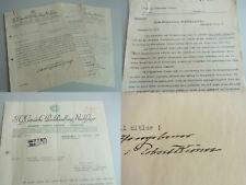 2 Briefe COTTA-Verlag 1936 über W.H. RIEHL (sign. KRÖNER) + Abschrift Brief 1850