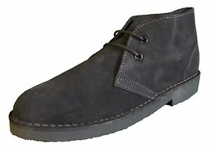 Grey Retro 70s MOD Style Real Suede Desert Boots