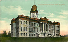 Vintage Postcard Cascade County Court House Great Falls Montana Mt