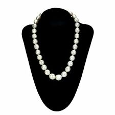 Pearl 14K White Gold Necklace 11-12mm Off-Shape White Freshwater Strand