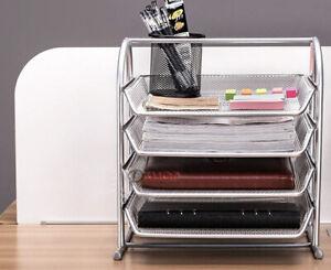 4-Tier Office Document Tray Paper/Magazine Desk Organiser