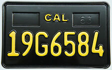 Collectible California License Plates