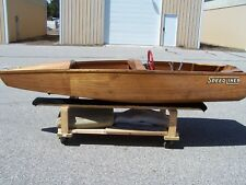 SPEED LINER VINTAGE CORSAIR RUNABOUT WOODEN BOAT IN BEAUTIFUL CONDITION