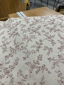"""embroidered floral matelasse drapery / upholstery fabric by richloom 54"""" bty"""