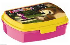 Masha e Orso LUNCH BOX scatola colazione porta PRANZO MERENDA sandwich scuola
