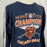 Chicago Bears 2006 NFC North Champions T-Shirt XL Long Sleeve Blue NFL Football