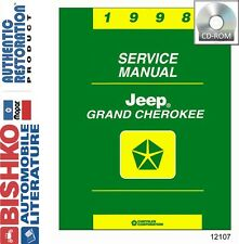 1998 Jeep Grand Cherokee Shop Service Repair Manual CD Engine Drivetrain Wiring