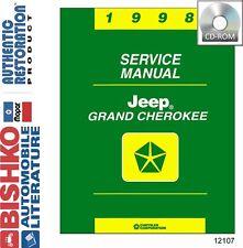 1998 Jeep Grand Cherokee Shop Service Repair Manual CD Engine Drivetrain Wiring
