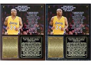 Kobe Bryant 1996-2016 Career Retirement Photo Plaque Los Angeles lakers