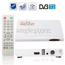 HDMI 1080P DVB T2 TV Box Tuner Receiver USB/AV H.264 Converter w/ Remote Control
