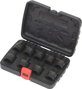 """Welzh Werkzeug 3/4""""Dr Impact Bit Socket Set XZN Spline Allen Key Hex 9-Piece"""
