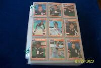 1985 FLEER COMPLETE 660 CARDS BASEBALL SET IN PLASTIC PAGES-PUCKETT & CLEMENS RC