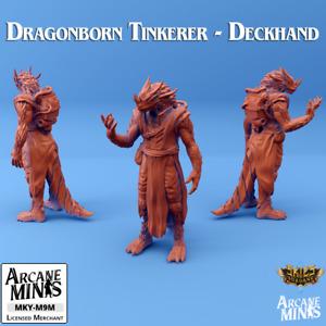 D&D Miniature Dragonborn Tinkerer Artificer Monk Dungeons and Dragons