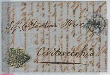 64234 - ANTICHI STATI: PONTIFICIO - STORIA POSTALE: #3 varieta' su Busta   1864