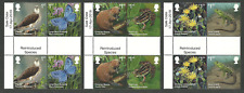 GB 2018 REINTRODUCED SPECIES BIRDS BUTTERFLIES FROGS GUTTER PAIRS MNH