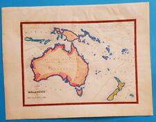 1838 ORIGINAL MAP AUSTRALIA PAPUA NEW GUINEA, NEW HOLLAND TASMANIA NEW ZEALAND