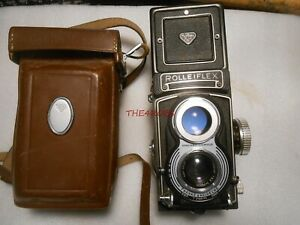 Rolleifix Synchro-Compur Franke & Heidecke Germany TLR Camera Zeiss Lens