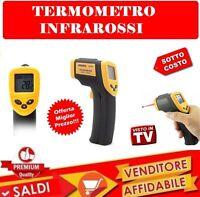 TERMOMETRO LASER AD INFRAROSSI DIGITALE -50° 380° MISURA GRADI FORNO ED ALIMENTI