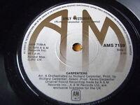 "CARPENTERS - ONLY YESTERDAY  7"" VINYL"