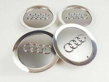 NEW Grau 4x 145mm Nabendeckel Felgendeckel Nabenkapp 4E0601165A für Audi