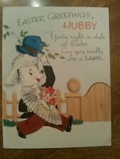 Vintage Gibson Easter Card Hubby Animal Wise Crackers Newlyweds
