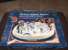 Rare 1996 Mr. Christmas Disney Mickey's Holiday Skaters Musical Ice Skating Pond