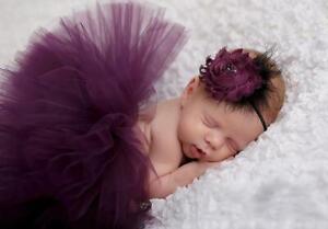Infant Newborn Girl Tutu Skirt Dress Headband Photo Baby Photography Prop Outfit