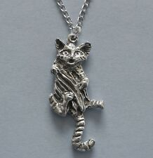 Tiger big cat man eater carnivore earrings /&necklace set silver plated necklace