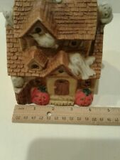 Ceramic Tealight Candle Halloween House with Ghosts Decoration