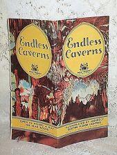 1940s ENDLESS CAVERNS NEW MARKET VIRGINIA TRAVEL BROCHURE SHENANDOAH VALLEY VA