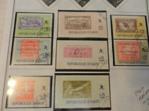 Lot of 8 Haiti 1969 Marathon Winners Stamps, Hayes, Steenroos, Louis