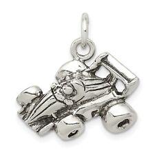 Go Kart Racer Charm Pendant In 925 Sterling Silver 17 mm x 21 mm 2.47gr