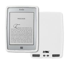 White Soft Silicone Case Cover skin for Amazon Kindle Touch / Touch 3G