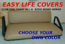 CLUB CAR CARRY ALL & EZGO WORK HORSE GOLF CART SEAT COVERS FRONT STAPLE ON #59
