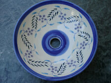 Feverfew Hand-Painted Ceramic Vessel Sink       ***FREE Drain Assy. Included ***