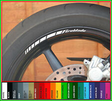 12 x HONDA FIREBLADE Wheel Rim Decals Stickers Stripes - Many Colours - cbr1000
