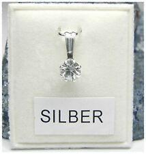 NEU 835 Silber ANHÄNGER 5mm SWAROVSKI STEIN crystal/kristallklar KETTENANHÄNGER