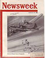 1950 Newsweek August 28-Bad Dogs; Steamboat Springs CO