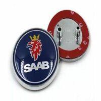 Saab Boot Rear Trunk Badge Emblem Blue 93 9-3 95 9-5 2003-2010 BRAND 68mm 2 pin