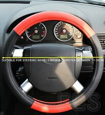 FORD FAUX LEATHER LOOK STEERING WHEEL COVER RED