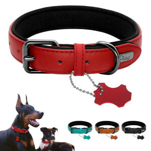 Soft Genuine Leather Small Dog Collar For Puppy Small Medium Dogs Four Colors