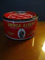 Vintage Round Tin Canister Crimp Cut Tobacco Prince Albert Cigarette Advertising