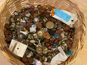 HUGE Lot Vintage Sewing Buttons 7* POUNDS From Old Forge PA Estate OLD